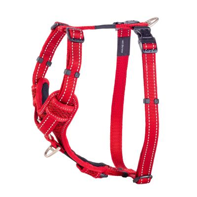Rogz Control Reflective Padded Harness Red Large For Dogs 45-75cm Girth