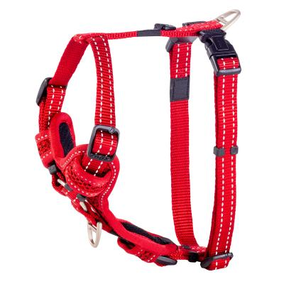 Rogz Control Reflective Padded Harness Red Medium For Dogs 32-52cm Girth