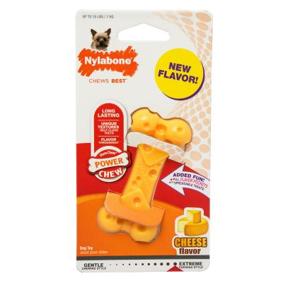 Nylabone Power Dura Chew Cheese Bone Petite XSmall Toy For Dogs