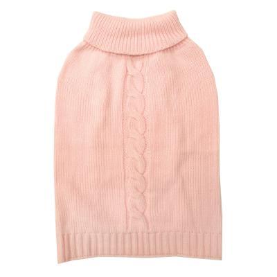DGG Cable Knit Vest Jumper Dog Coat Baby Pink Large
