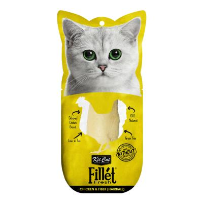 Kit Cat Fillet Fresh Chicken And Fibre Hairball Treat For Cats 25gm