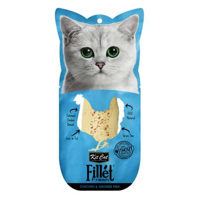 Kit Cat Fillet Fresh Chicken And Smoked Fish Treat For Cats 25gm