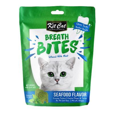 Kit Cat Breath Bites Seafood Dental Treats for Cats 60gm