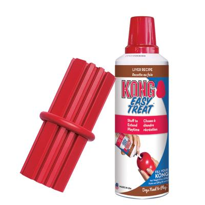 KONG Dental Stick Medium Toy For Dogs And KONG Easy Treat Paste Liver Recipe For Dogs 226gm