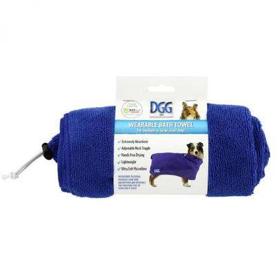 DGG Wearable Micro Fibre Bath Robe And Towel 2 in 1 For Medium Large Dogs