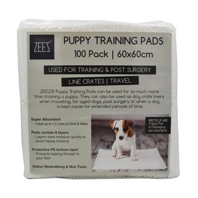 ZEEZ Toilet Training Pads For Puppy And Dogs 100 Pack