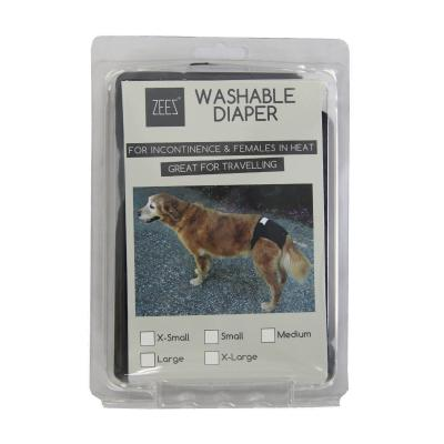 ZEEZ Washable Diaper XSmall For Dogs (Waist 20-26cm)