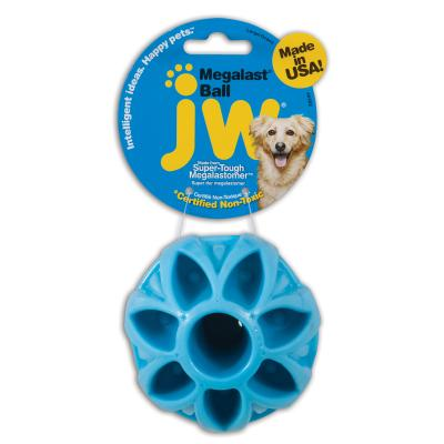 JW Megalast Megaball Assorted Colour Large Treat Fetch Ball Toy For Dogs