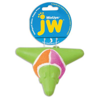 JW MixUps Arrow Spikey Solid Rubber Ball MediumToy For Dogs