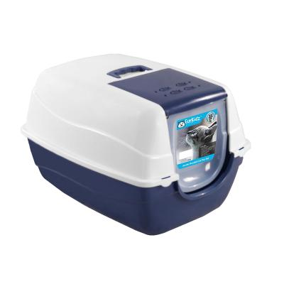 Furkidz Litter Tray Jumbo With Removable Hood Charcoal Filter And Scoop Large For Cats