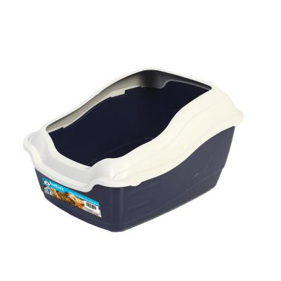 Furkidz Litter Tray With Removable High Back And Sides Rim For Cats