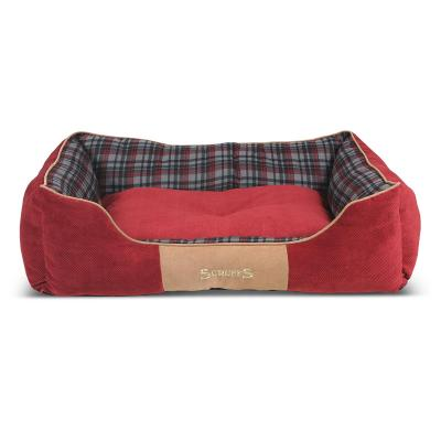 Scruffs Highland Soft Cushion Basket Bed Tartan Red XLarge For Dogs