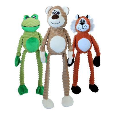 Petsport Critter Tuggs Assorted Character Plush Squeak Toy For Dogs