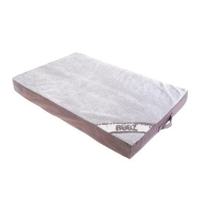 Rogz Flat Mattress Lounge Podz Dark Brown Cream Small Bed For Dogs