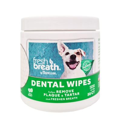 Tropiclean Fresh Breath Dental Tooth Wipes For Dogs And Cats