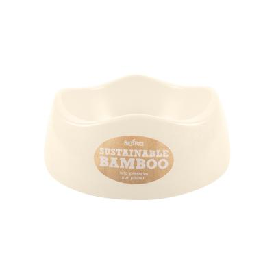 Beco Eco Friendly Bamboo Bowl Natural/Cream Medium For Dogs 750ml