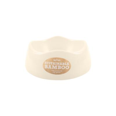 Beco Eco Friendly Bamboo Bowl Natural/Cream Small For Dogs 500ml
