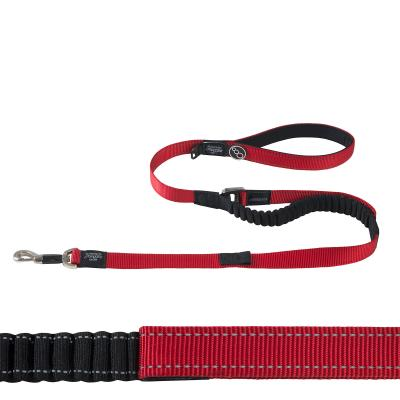 Rogz Control Lumberjack Shock Absorbing Bungee Long Lead Red XL For Dogs