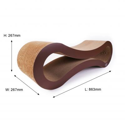 Minx Infinity Deluxe Scratcher Lounging Bed Large For Cats