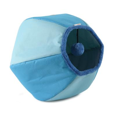 United Pets Cat Cave Play Time Bed Blue For Cats