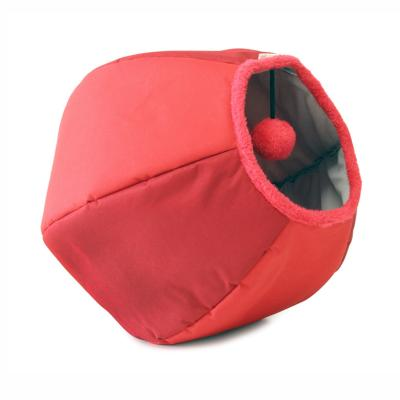 United Pets Cat Cave Play Time Bed Red For Cats