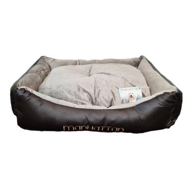Manhattan Deluxe Soft Cushion Basket Bed Black/Brown XLarge For Dogs