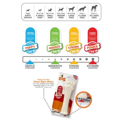 Nylabone Power Dura Chew Peanut Butter Bone Regular Small Toy For Dogs Up to 11kg