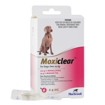 Moxiclear For Dogs Over 25kg 6 Pack