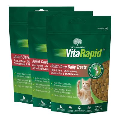 Vetalogica VitaRapid for Cats Joint Arthritis Daily Treats x 3