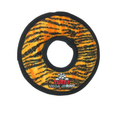 Tuffy Mega Jr Ring Tiger Tough Soft Squeak Toy For Dogs