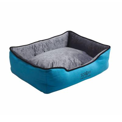Scream Bolster Loud Blue Cushion Basket Bed Large For Dogs