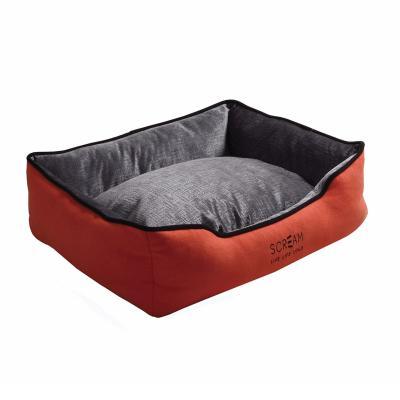 Scream Bolster Loud Orange Cushion Basket Bed Large For Dogs