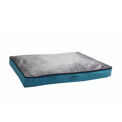 Scream Gusset Loud Blue Soft Cushion Mattress Bed Small For Dogs