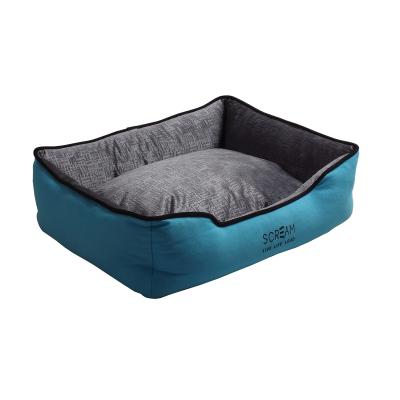 Scream Bolster Loud Blue Cushion Basket Bed Medium For Cats And Dogs