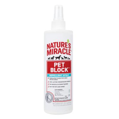 Natures Miracle Pet Block Repellent Spray For Dogs 473ml