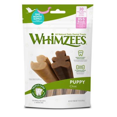 Whimzees Puppy Dental Bones XSmall To Small Breed Treats For Dogs 30 Pack 224g