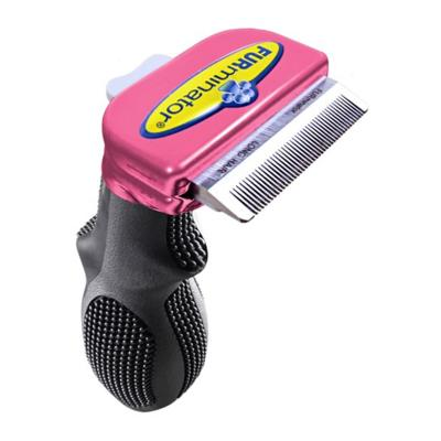 FURminator DeShedding Brush Comb Tool Metallic Pink For Long Hair Small Cats