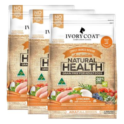 Ivory Coat Natural Health Grain Free Chicken And Coconut Oil Adult Dry Dog Food 39kg
