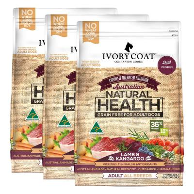 Ivory Coat Natural Health Grain Free Lamb And Kangaroo Adult Dry Dog Food 39kg