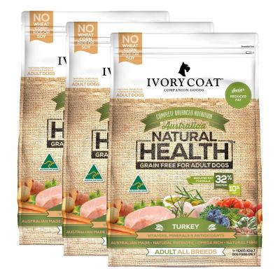 Ivory Coat Natural Health Grain Free Reduced Fat Turkey Adult/Senior Dry Dog Food 39kg