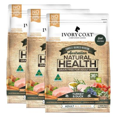 Ivory Coat Natural Health Grain Free Turkey And Duck Adult Dry Dog Food 39kg