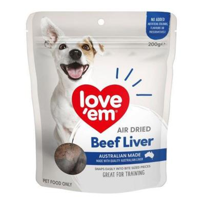 Love Em Air Dried Beef Liver Treats For Dogs 200gm