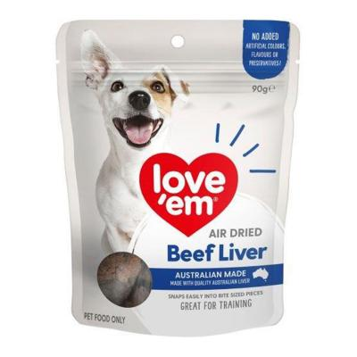 Love Em Air Dried Beef Liver Treats For Dogs 90gm