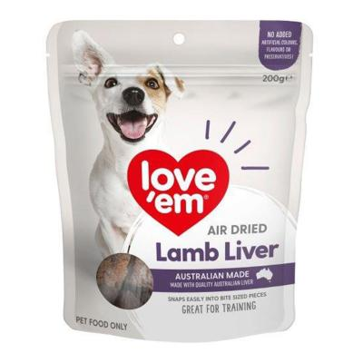 Love Em Air Dried Lamb Liver Treats For Dogs 200gm