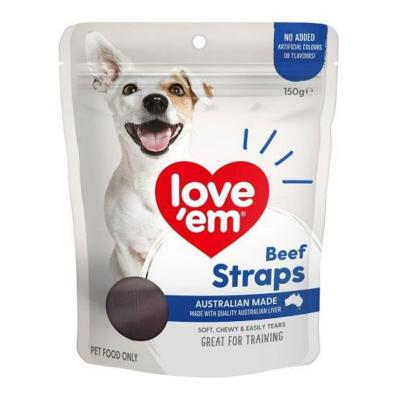 Love Em Beef Straps Treats For Dogs 150gm