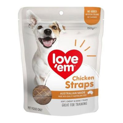 Love Em Chicken Straps Treats For Dogs 150gm