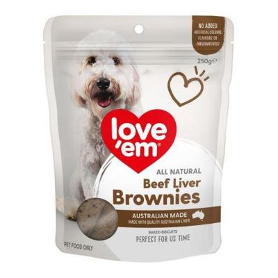 Love Em Liver Brownie Treats For Dogs 250gm