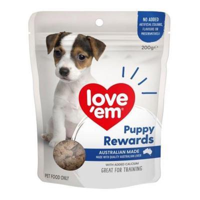 Love Em Liver Puppy Rewards Treats For Dogs 200gm