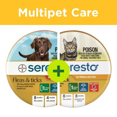 Multipet Plus - Advantage Seresto Fleas And Tick Collars For Cats And Dogs