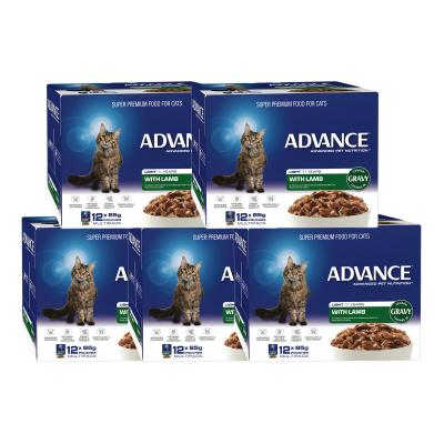 Advance Light Lamb With Gravy Adult 1+ Years Pouches Wet Cat Food 85gm x 60